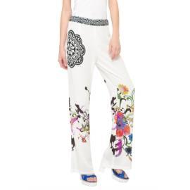 Desigual womens's pants 61P26A1 1000 white Mono Ginna