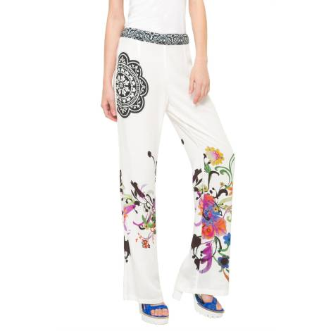 Desigual pantalone donna 61P26A1 1000 bianco