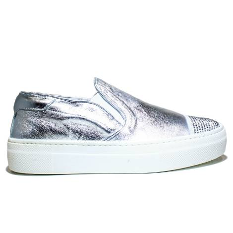 Anvers Slip On Women's Gymnastic Low Art. WL02 Laminate Silver