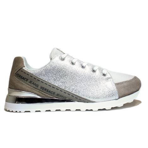 Versace Jeans Women's Gymnastic Low Sneaker Art. E0VNBSB2 75557 807 Grey
