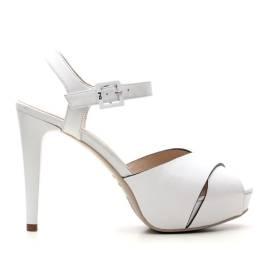 Nero Giardini Sandalo Tacco Alto Donna Pelle Articolo P615790DE 707 Bianco