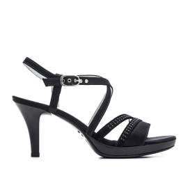 Nero Giardini Sandalo Tacco Alto Donna Pelle Articolo P615810DE 100 Nero