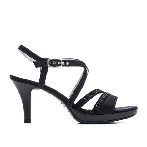 Nero Giardini Sandal High Hell Woman Leather Item P6 15810 DE 100 Black