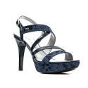 Nero Giardini Sandal High Hell Woman Leather ItemP615780DE 200 Marine