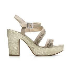 Nero Giardini Sandalo Tacco Alto Donna Pelle Articolo P615630D 410 Sabbia