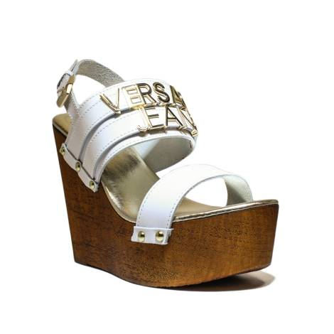 7d0887887f6 Versace Jeans Woman With Sandal Wedge High Art. E0VNBS34 75550 003 White