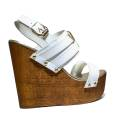 Versace Jeans Woman With Sandal Wedge High Art. E0VNBS34 75550 003 White