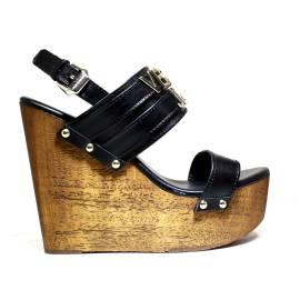 Versace Jeans Sandalo Donna Con Zeppa Alta Art. E0VNBS34 75550 899 Nero