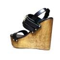 Versace Jeans Woman With Sandal Wedge High Art. E0VNBS34 75550 899 Black
