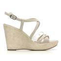 Nero Giardini Sandal Woman With High Wedge Leather Item P615591D 701 Moonlight