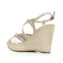 Nero Giardini Sandalo Donna Con Zeppa Alta Pelle Articolo P615591D 701 Moonlight