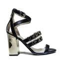 Versace Jeans Woman With Sandal Heel High Art. E0VNBS31 75549 899 Black