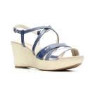 Nero Giardini Sandal Woman With High Wedge Leather Item P615621D 203 Avion Laminate