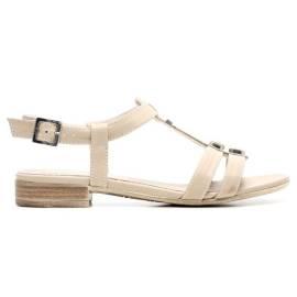 Nero Giardini Sandalo Tacco Basso Donna Pelle Articolo P615710D 410 Sabbia
