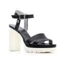 Nero Giardini Sandalo Tacco Alto Donna Pelle Articolo P615731D 100 Nero