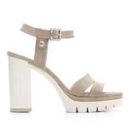 Nero Giardini Sandal High Hell Woman Leather Item P615731D 406 Tortora
