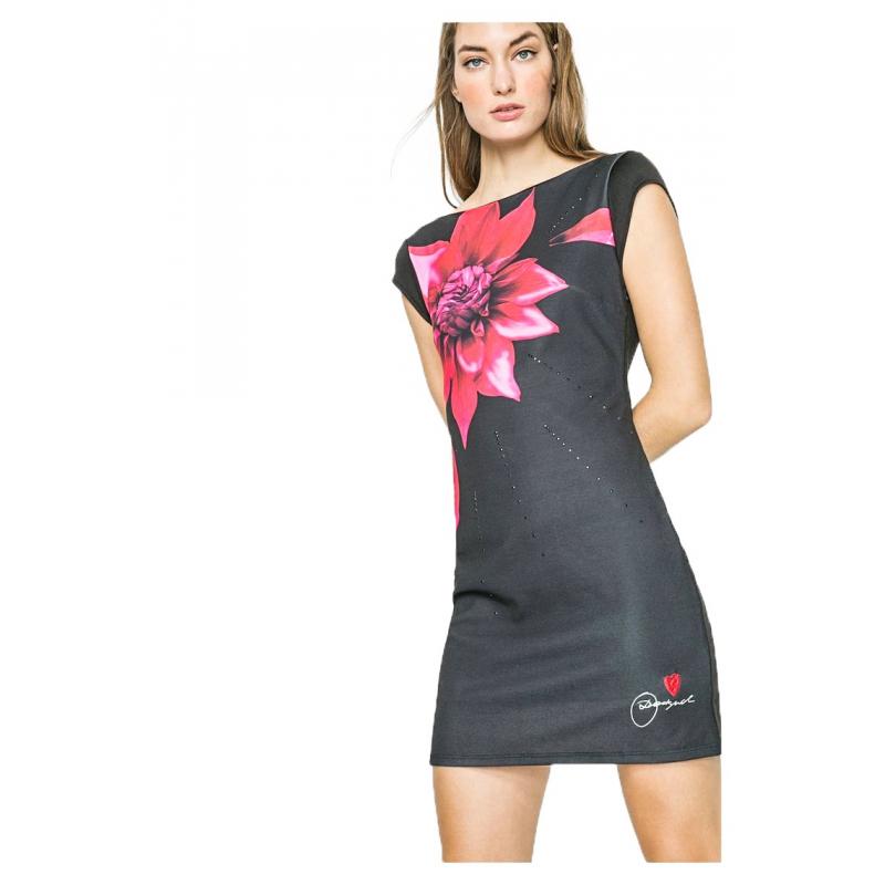 bdb774930122 Desigual vestito nero fiore rosso – Abiti in pizzo