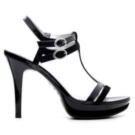 Nero Giardini Elegant Women High Heel Sandals Leather Item P615751DE 100 Black