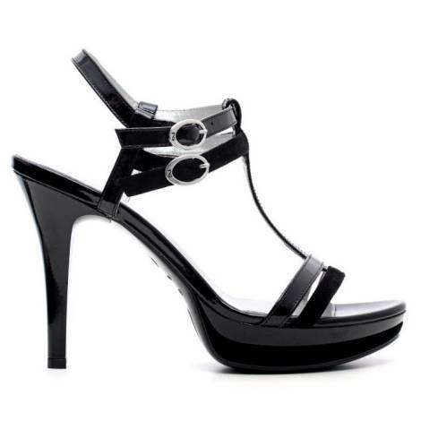 Nero Giardini Sandalo Elegante Donna Tacco Alto Pelle Articolo P615751DE 100 Nero
