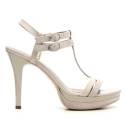 Nero Giardini Sandalo Elegante Donna Tacco Alto Pelle Articolo P615751DE 506 Safari