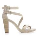 Nero Giardini Sandalo Tacco Alto Donna Pelle Articolo P615536D 410 Sabbia