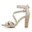 Nero Giardini Sandal High Hell Woman Leather Item P615536D 410 Sand
