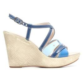 Nero Giardini Sandal Woman With High Wedge Leather Item P615591D 203 Avion