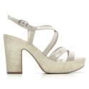 Nero Giardini Women High Heel Sandals Leather Item P615632D 701 Moonlight