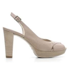 Nero Giardini Sandal High Hell Woman Leather Item P615690D 406 Turtledove