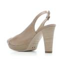 Nero Giardini Sandalo Tacco Alto Donna Pelle Articolo P615690D 406 Tortora