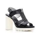 Nero Giardini Sandalo Tacco Alto Donna Pelle Articolo P615730D 100 Nero