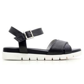 Nero Giardini Sandal Mid Woman Leather Item P615741D 100 Black