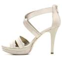 Nero Giardini Elegant Women High Heel Sandals Leather Item P615750DE 701 Beige