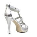 Nero Giardini Sandal High Hell Woman Leather Item P5 12991 DE silver