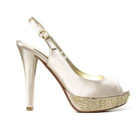 Bacta De Toi 819S Sandal Satin Golden Heel