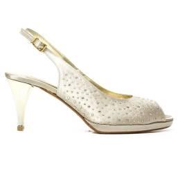 Bacta De Toi 453S Sandal Satin beige Heel