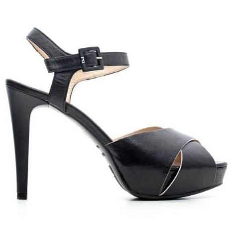 Nero Giardini Sandal High Hell Woman Leather Item P6 15790 DE 100 Black