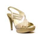 Joel Sandals Elegant Women High Heel Satin Platinum A398