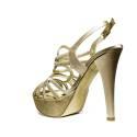 Joel Sandalo Elegante Donna Tacco Alto A18 Raso Platino