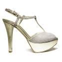 Joel Sandals Elegant Women High Heel Anna Platinum