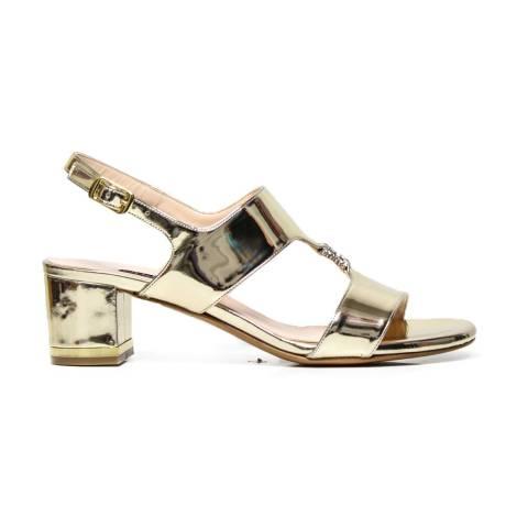 Elegant sandal Albano 4336 platinum mirror