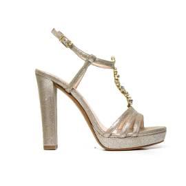 Elegant high-heeled sandal Albano 7226 LUX BEIGE