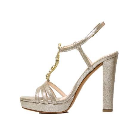 Sandalo Alto Elegante Lux Tacco Con Beige 7226 Albano uT1FKJ35lc