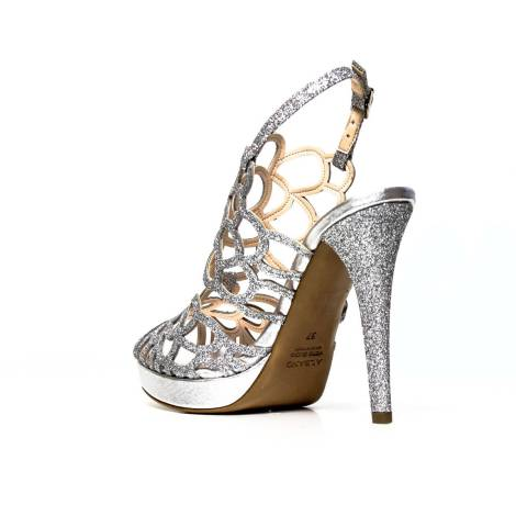 Argento Alto Sandalo Con Glitter Xbedco Albano Tacco Elegante 7206 DH2W9EIY