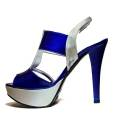 Joel Sandalo Elegante Donna Tacco Alto A336 Blu Argento