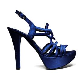 Joel Sandals Elegant Women High Heel Satin Blue A18