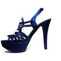 Joel Sandalo Elegante Donna Tacco Alto A18 Raso Blu