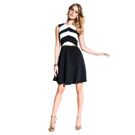 EDAS Luxury Cristil black and white short dress