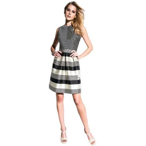 EDAS Luxury Miffio Short striped dress