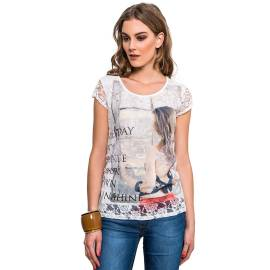 EDAS Silvano white woman shirt